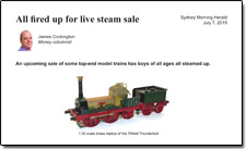 All Fired Up for Live Steam Sale
