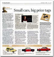 Small cars, big price tags
